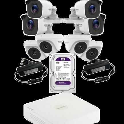 alarmpoint - hikvision - komplet 8 x 2MP